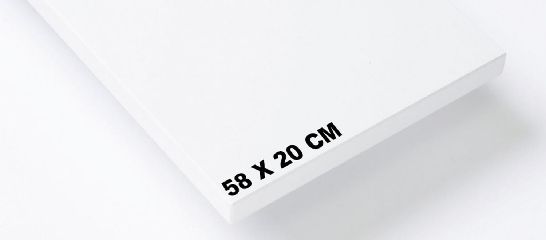Set de 3 étagères 58x20cm - Système String