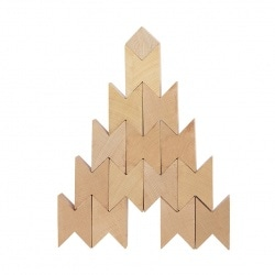 Twins wooden blocks