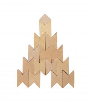 Twins wooden blocks