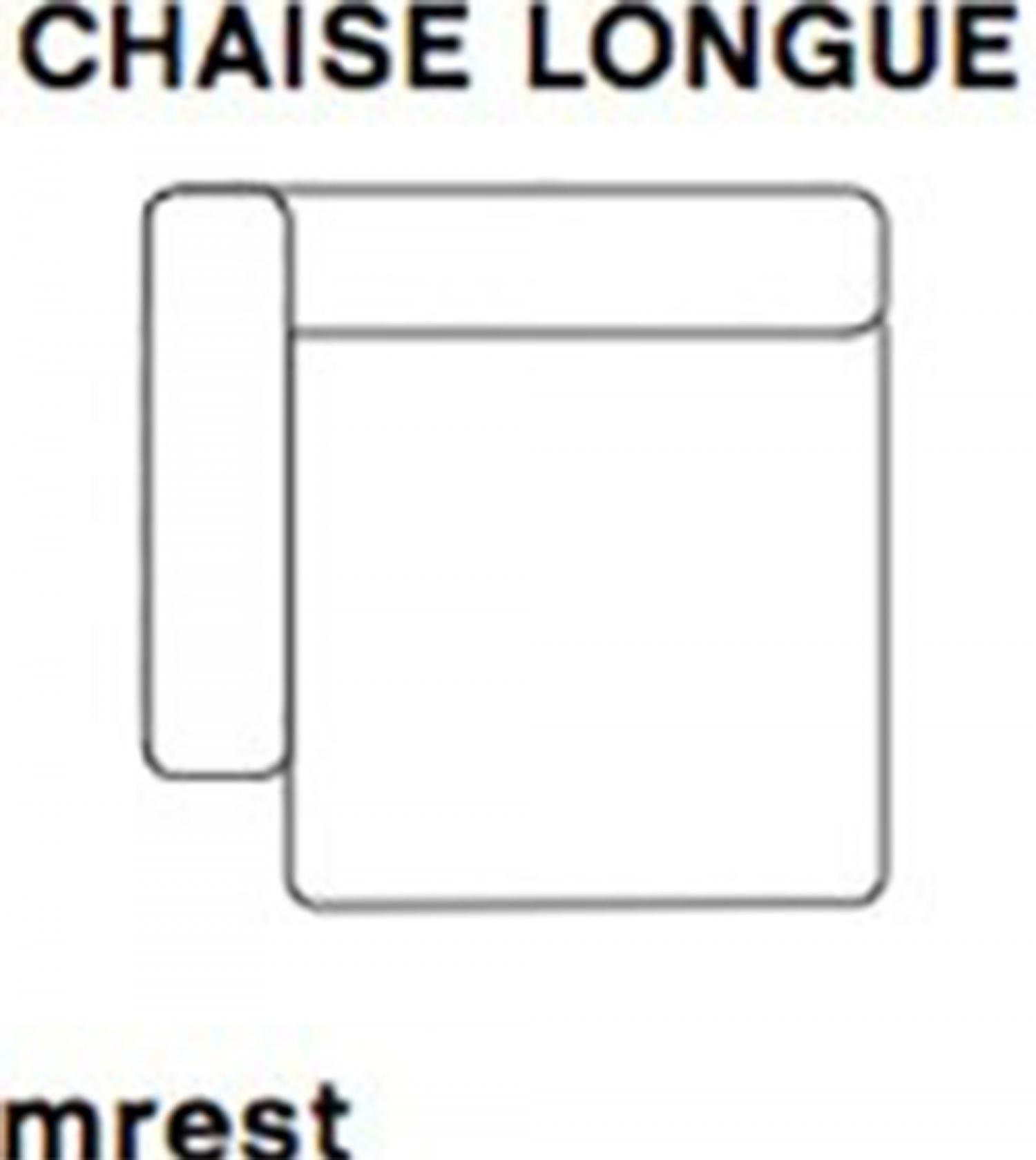 MAGS Wide Chaise Longue Module Short Left Armrest 8262