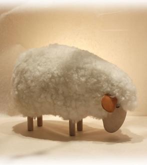 Sheep Mouton réaliste tête baissée 16cm