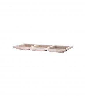 """Étagère 3 bacs """"bowl shelf"""" en feutre"""