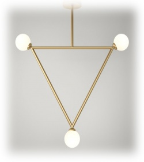 Suspension Triangle Pendant - 3 globes