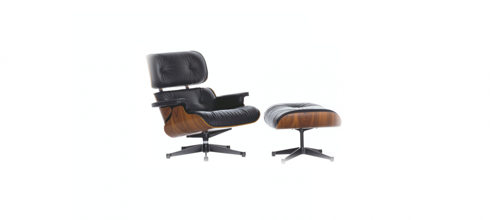 Fauteuil Lounge Chair & Ottoman Eames - Vitra - BLOU
