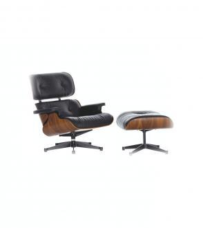 Fauteuil Lounge Chair & Ottoman - palissandre Santos Vitra