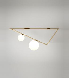 Plafonnier Triangle 2 spheres
