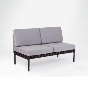 Canapé Grid - Sans accoudoirs et coussin rectangulaires - 2 places