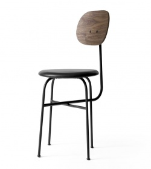 Chaise Afteroom Plus - Dossier Noyer - Assise tapissée
