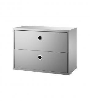 Cabinet 2 tiroirs 58x30x h 42cm - Système String