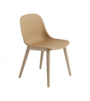 Chaise Fiber - Piètement bois