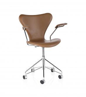 Chaise de bureau avec accoudoirs Series 7 tapissée