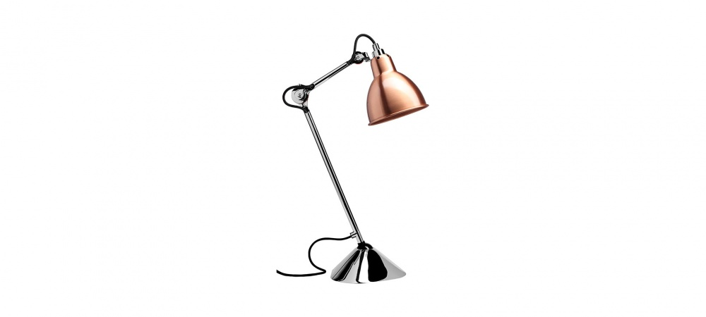 Lampe de table gras n°205 pied chromé