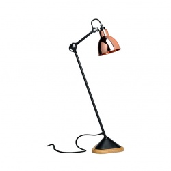 Lampe de table gras n°206 ( base en bois )
