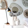 Lampe de table gras n°206 ( base en bois )