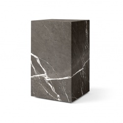 Table d'appoint Plinth haute Menu marbre gris