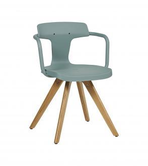 Chaise T14 - Piètement chêne