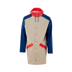 Veste longue de pluie / long jacket color block