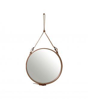 Miroir Adnet - Cuir - 58cm