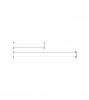 Plateau New Order / middle tray / à l'unité 100cm / 150cm / 200cm
