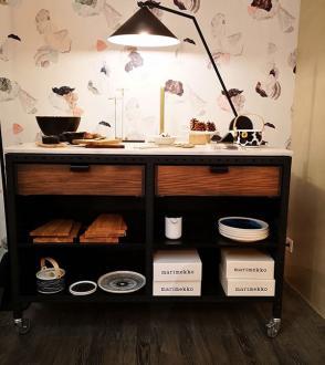 EXPO - Studio Kitchen - Ilot sur roulettes