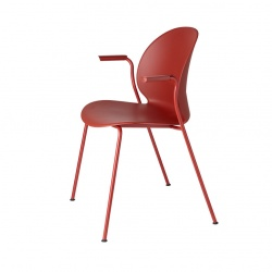 Chaise N02 Recycle avec accoudoirs - Blanc