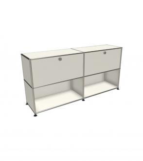 USM Haller meuble de rangement 4 modules 2 portes abatantes 150 x 35 x h74cm
