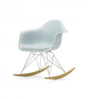 Fauteuil à bascule - Eames Plastic Armchair RAR - assise tapissée