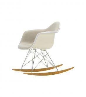 Fauteuil à bascule - Eames plastic armchair RAR - Entièrement tapissé
