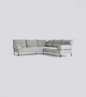 Canapé double d'angle / Accoudoir cylindrique