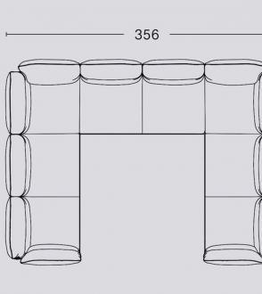 Canapé d'angle double Pandarine / Accoudoir inclinable