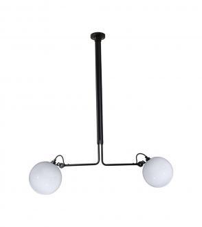 Lampe gras N°314 globe opalescent