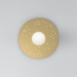Plate and sphere Sliver perforation 49cm - Dots