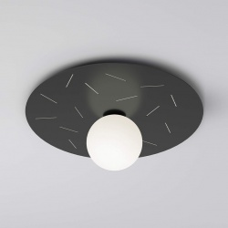 Plafonnier Plate and sphere Sliver perforation - 65cm - Cuts