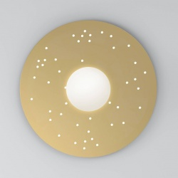 Plafonnier Plate and sphere Sliver perforation - 65cm - Dots
