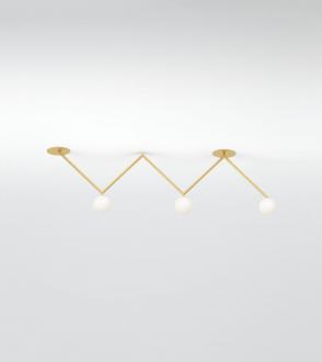 Plafonnier Zigzag - 5 segments