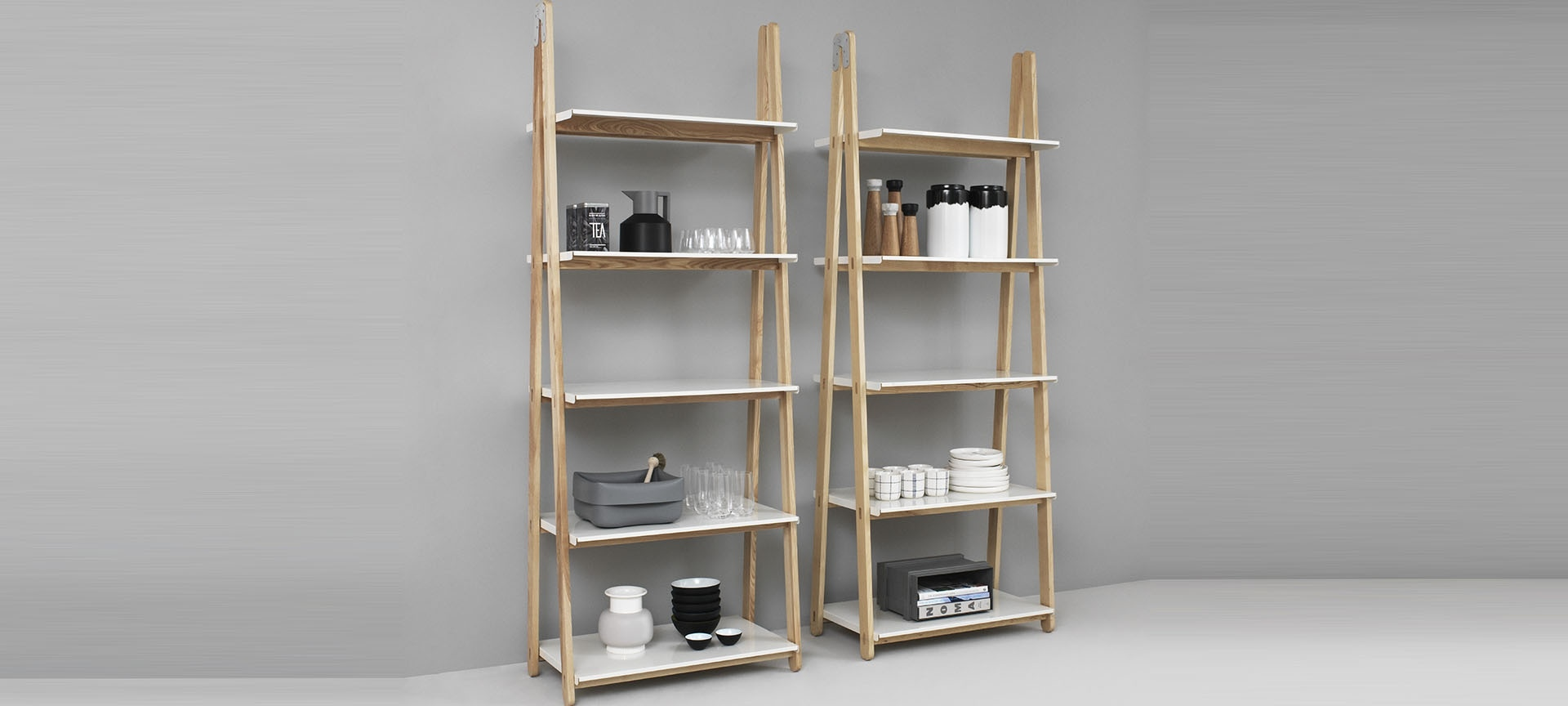 tag res one step up bookcase high normann copenhagen blou. Black Bedroom Furniture Sets. Home Design Ideas