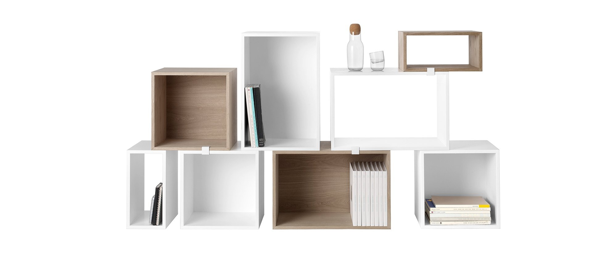 etag re caisson stacked large avec fond muuto blou. Black Bedroom Furniture Sets. Home Design Ideas