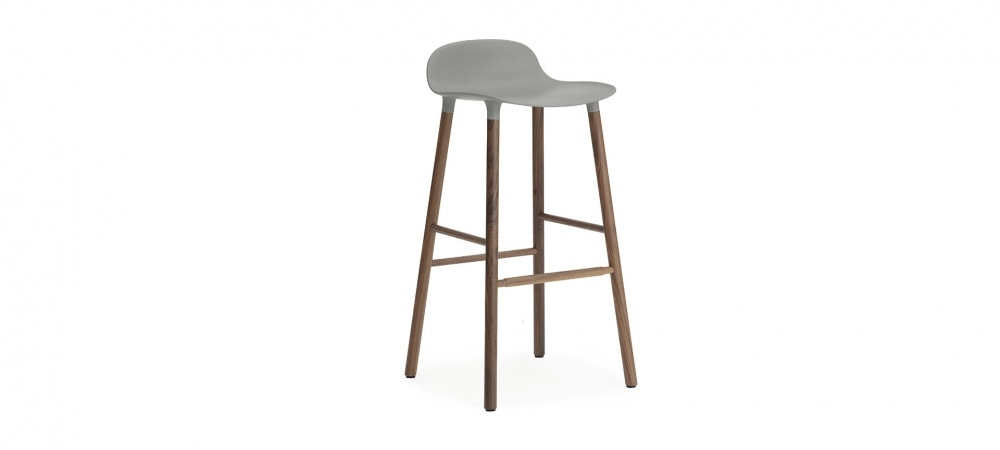 tabouret de bar form h75cm pieds bois normann copenhagen blou. Black Bedroom Furniture Sets. Home Design Ideas