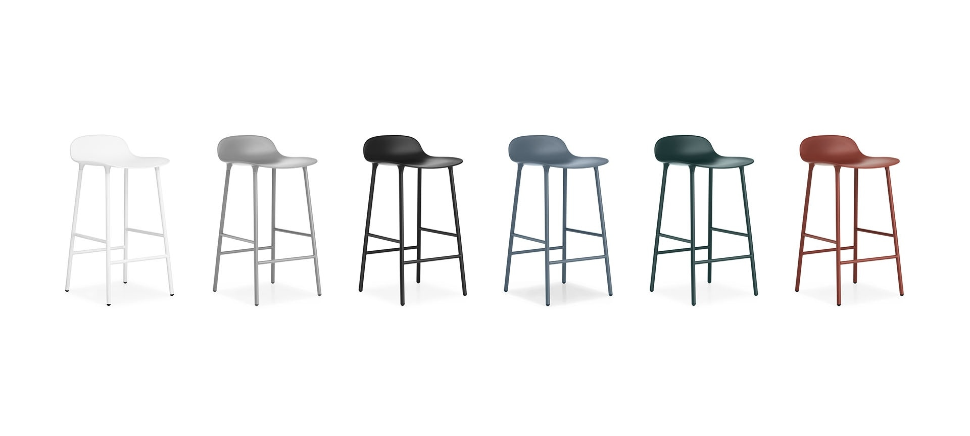 tabouret de bar form h65cm pieds metal normann copenhagen sarl blou. Black Bedroom Furniture Sets. Home Design Ideas