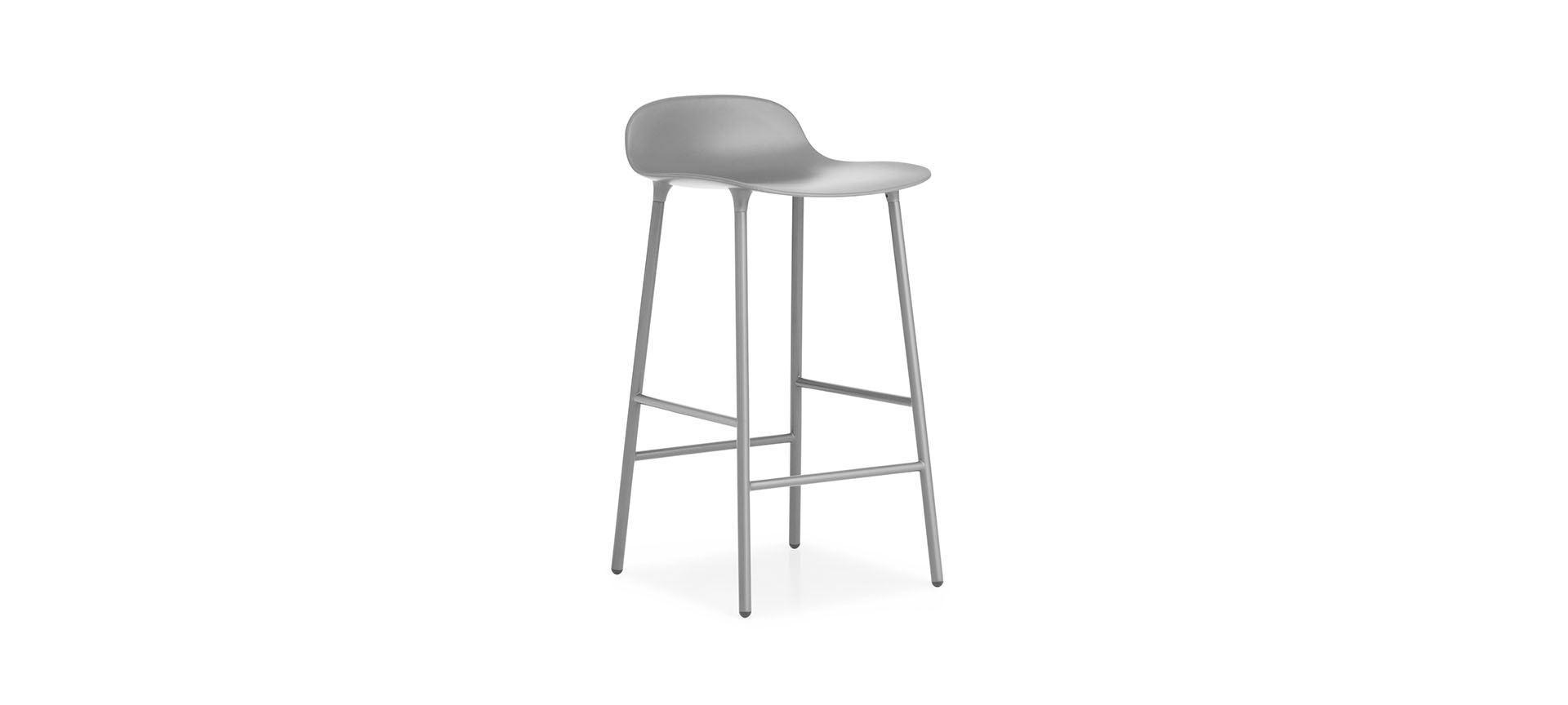 tabouret de bar form h65cm pieds metal normann copenhagen blou. Black Bedroom Furniture Sets. Home Design Ideas