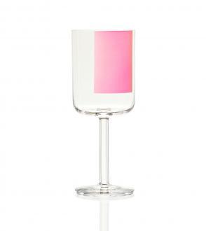 Autour de la table hay set de 6 verres à vin rouge colour