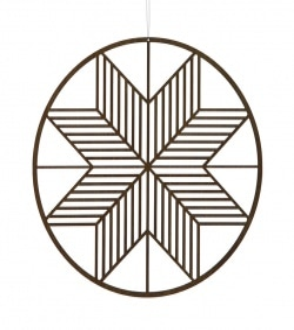 Étoile en bois Wooden Crystal