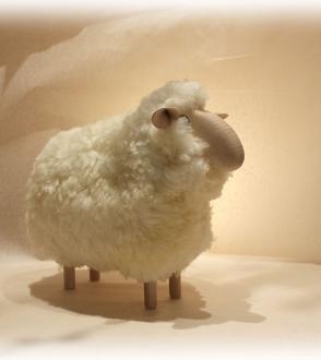 Sheep mouton tête droite H20cm