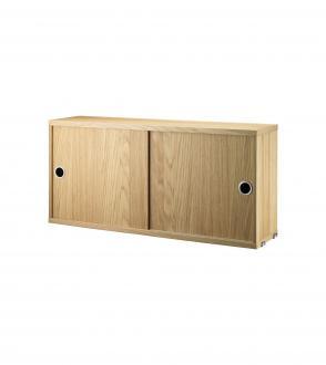 Cabinet 2 portes coulissantes 78x20cm