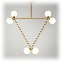 Suspension Triangle Pendant - 6 globes
