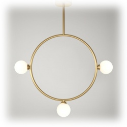 Suspension Circle Pendant - 3 globes