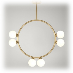 Suspension Circle Pendant - 6 globes