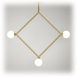 Suspension Rhombus pendant - 3 globes
