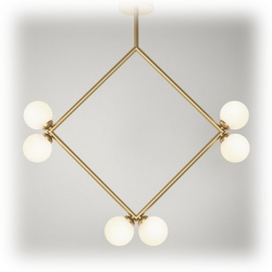 Suspension Rhombus pendant - 6 globes