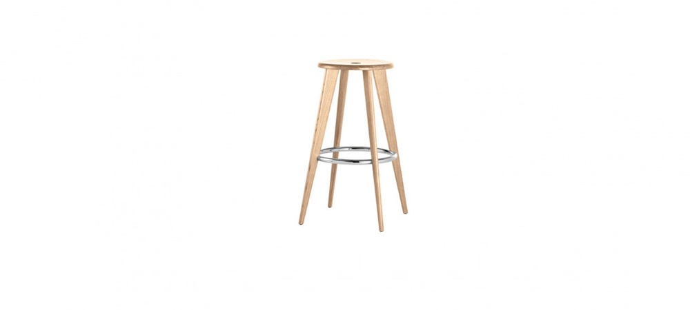 tabouret de bar tabouret haut jean prouv vitra blou. Black Bedroom Furniture Sets. Home Design Ideas